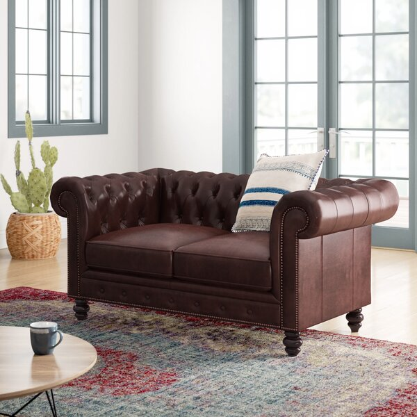 Best Reviews Brooklyn Chesterfield 66 Rolled Arm Loveseat by Mistana