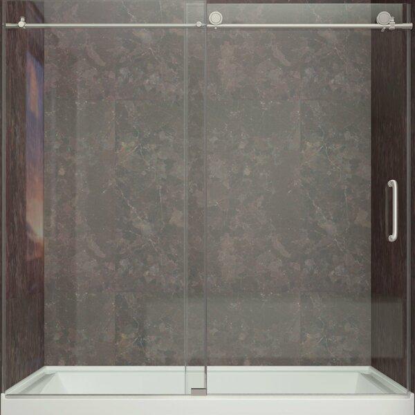 Don 59 x 62 Sliding Frameless Tub Door by ANZZI