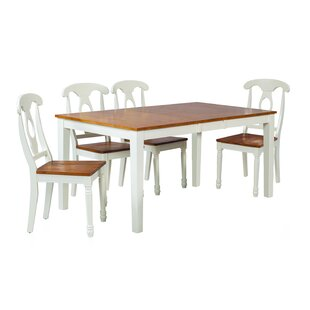 Boswell 5 Piece Solid Wood Dining Set ByTTP Furnish