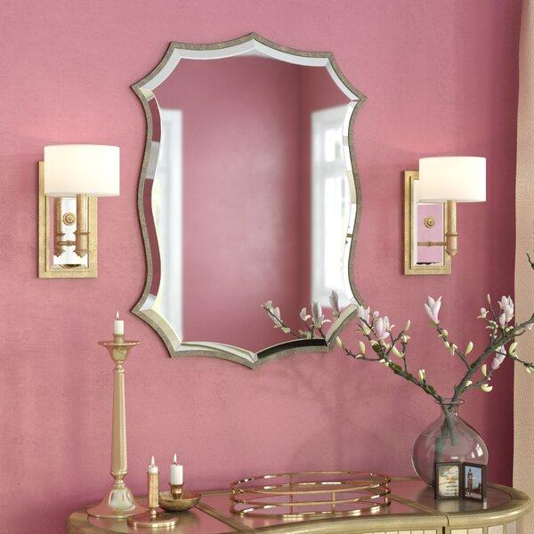 Nickel Metal Wall Mirror by Willa Arlo Interiors