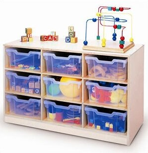Gratnell 9 Compartment Cubby with Casters by Whitney Brothers