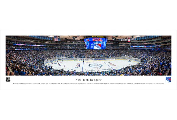 NHL New York Rangers - Center Ice by James Blakeway Photographic Print by Blakeway Worldwide Panoramas, Inc