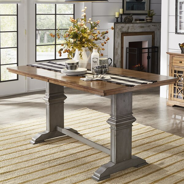Brierfield Counter Height Extendable Solid Wood Dining Table by Three Posts Three Posts
