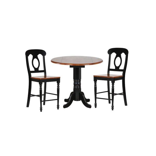 Lockwood 3 Piece Adjustable Pub Table Set by Loon Peak