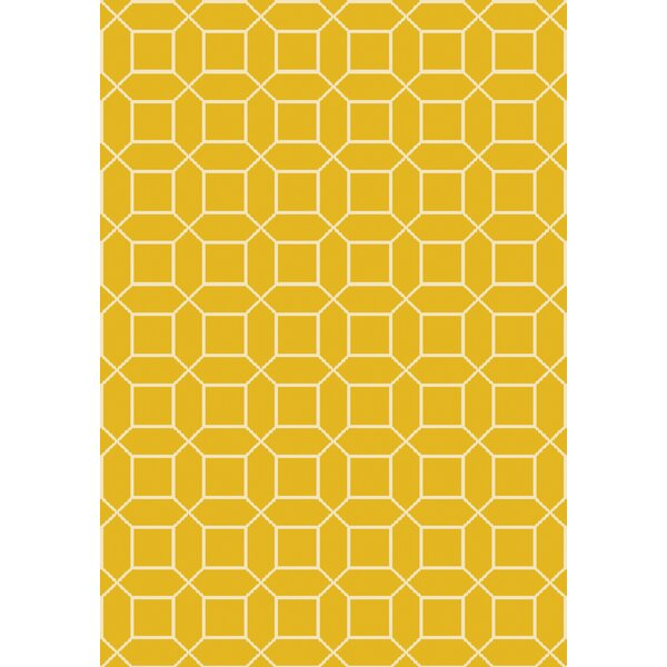 Miles Hand-Knotted Yellow Area Rug by Corrigan Studio