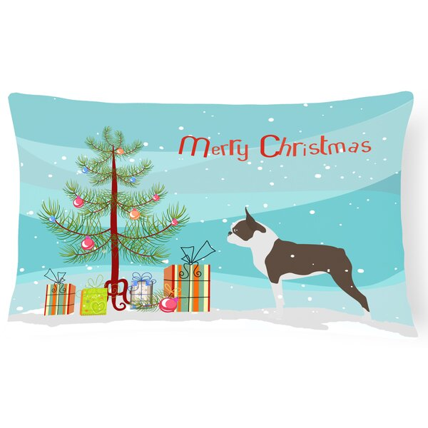 Boston Terrier Indoor/Outdoor Lumbar Pillow by The Holiday Aisle