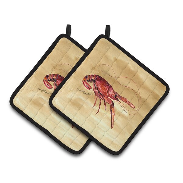 Crawfish Potholder (Set of 2) by Caroline's Treasures