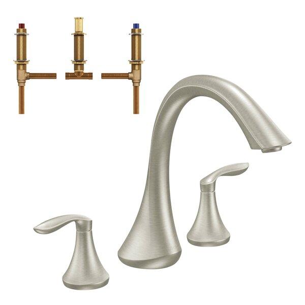 Eva Double Handle Deck Mounted Roman Tub Faucet by Moen Moen