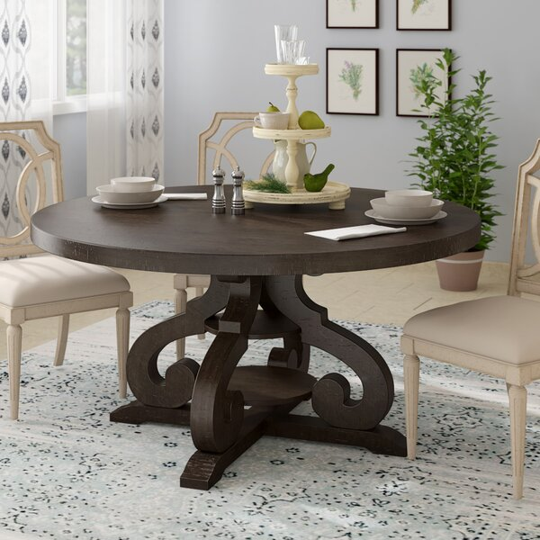 Kenworthy Solid Wood Dining Table by Three Posts