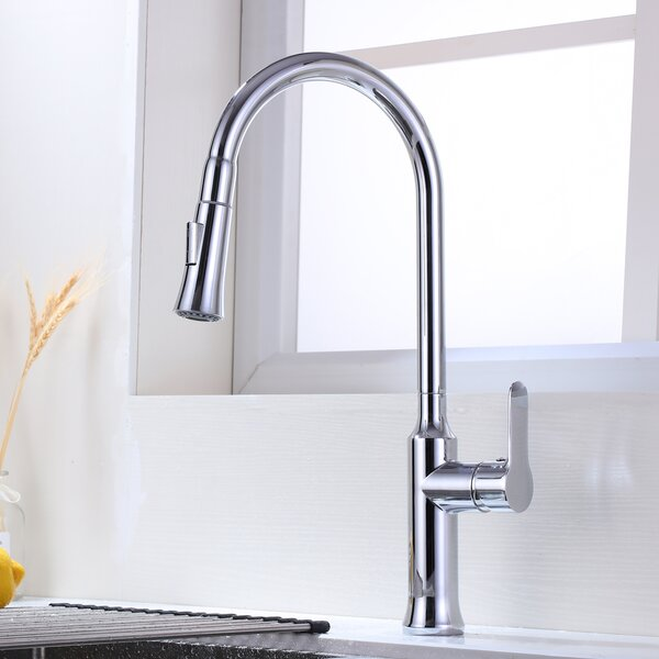 Pull Down Single Handle Kitchen Faucet By Maincraft