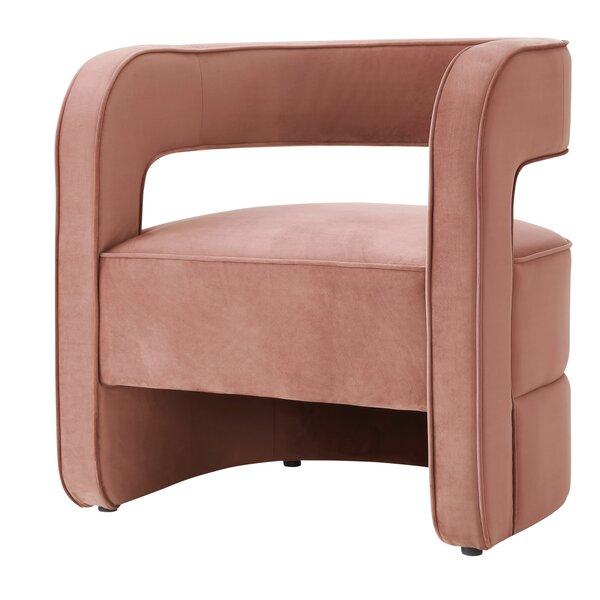 Jamal Velvet Barrel Chair by Nicole Miller