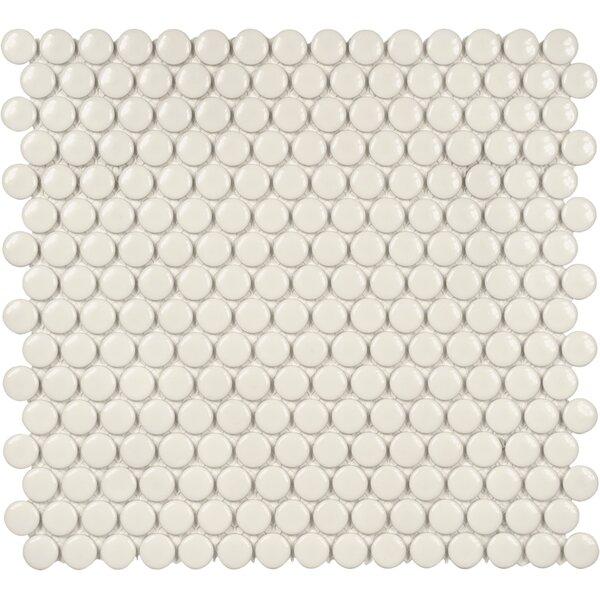 Sail 0.75 x 0.75 Ceramic/Porcelain Mosaic Tile in Biscotti by Parvatile
