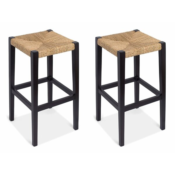 Rush Weave  30 Bar Stool (Set of 2) by BirdRock Home