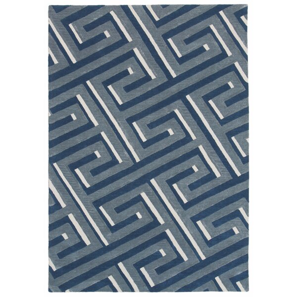 Gaydos Hand-Tufted Denim Area Rug by Brayden Studio