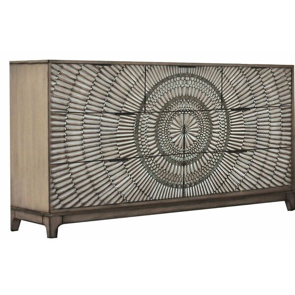 Herdon Transitional Wooden 7 Drawer Double Dresser by Bungalow Rose