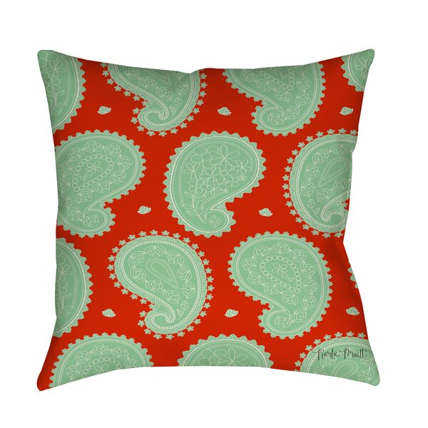 Paisley Floral Printed Throw Pillow by Manual Woodworkers & Weavers