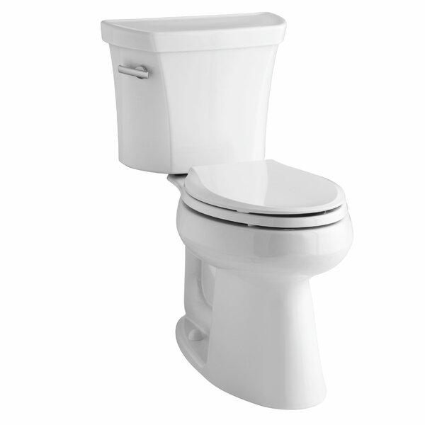 Highline Comfort Height Two-Piece Elongated 1.28 GPF Toilet with Class Five Flush Technology, Left-Hand Trip Lever and Tank Cover Locks by Kohler