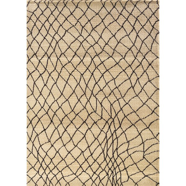 Feltner Ivory/Brown Area Rug by Brayden Studio
