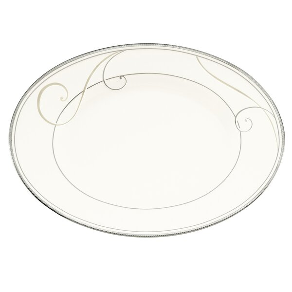 Platinum Wave Oval Platter by Noritake