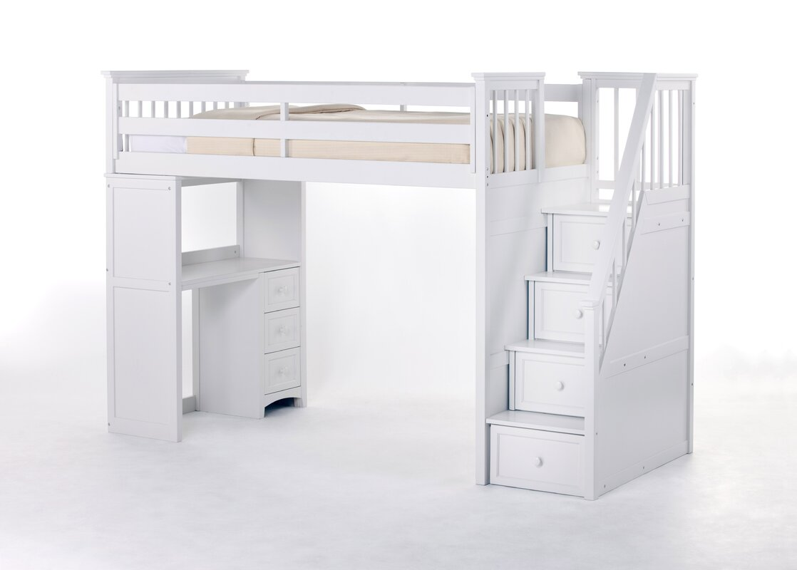 Lyric Stair Loft Bed with Desk End