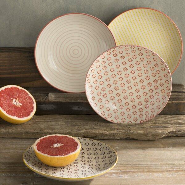 Floressa 8 Round Ceramic Plate 4 Piece Set by Mistana