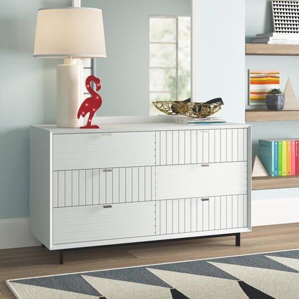 Arnett 6 Drawer Double Dresser by Trule Teen
