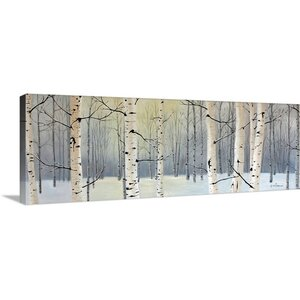 'Winter Birch Forest' by Julie Peterson Graphic Art on Wrapped Canvas by Great Big Canvas
