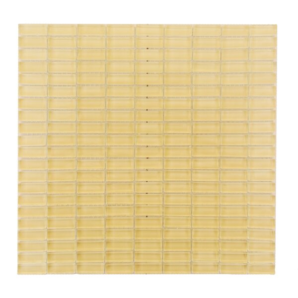 Epiphany 0.5 x 1.25 Glass Mosaic Tile in Beige by Abolos