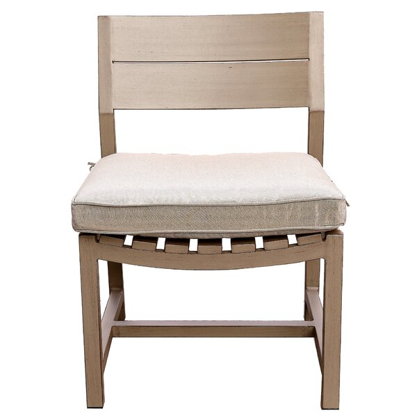 Otega Patio Dining Chair with Cushion by Orren Ellis