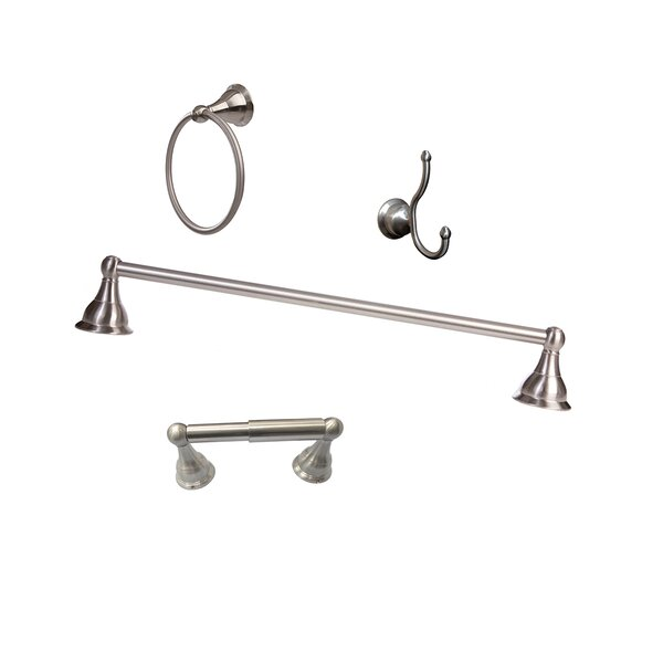 Summit 4 Piece Wall Mounted Bathroom Hardware Set by ARISTA