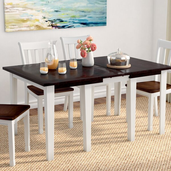Tamiami Solid Wood Extendable Dining Table by Beachcrest Home
