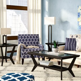 Woodrow 3 Piece Coffee Table Set in Brown by Latitude Run