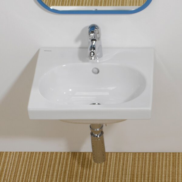 Traffic Ceramic 17 Wall Mount Bathroom Sink with Overflow by Bissonnet