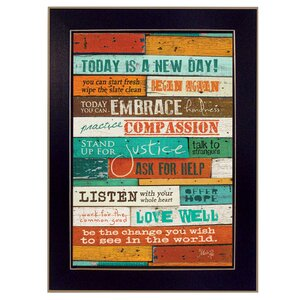'A New Day' Framed Textual Art Print by Trendy Decor 4U