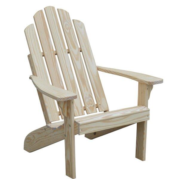 Rivale Wood Adirondack Chair by Highland Dunes Highland Dunes