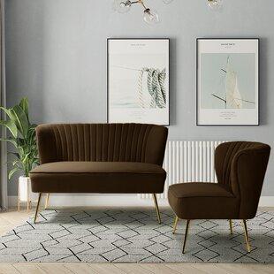 3 Piece Velvet Configurable Living Room Set by Willa Arlo™ Interiors