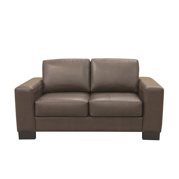Mayfair Leather Loveseat by Coja