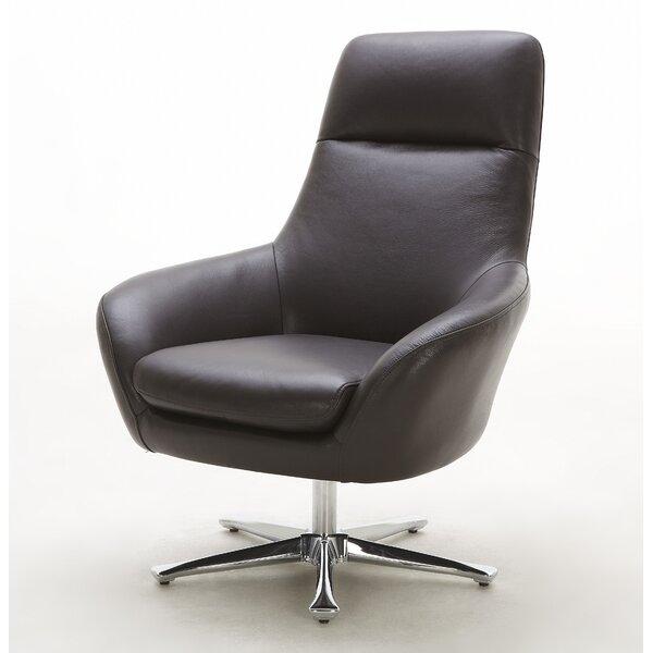 Navis Leather Lounge Chair by Hokku Designs