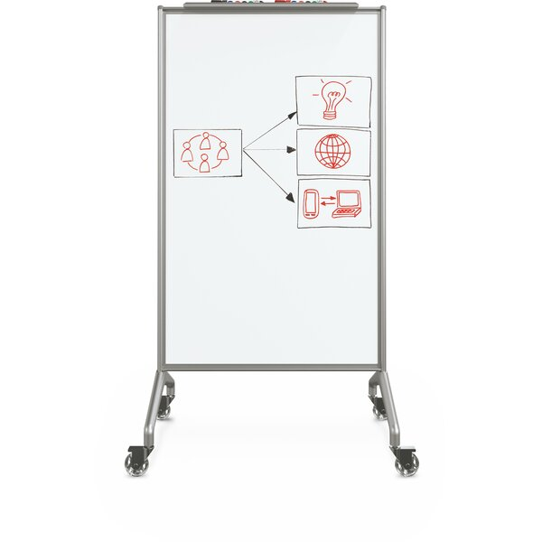 Glider Double Sided Mobile Whiteboard by Best-Rite®