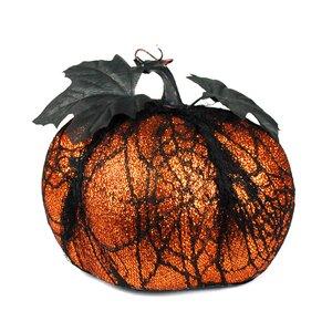 Glitter Lace Halloween Pumpkin