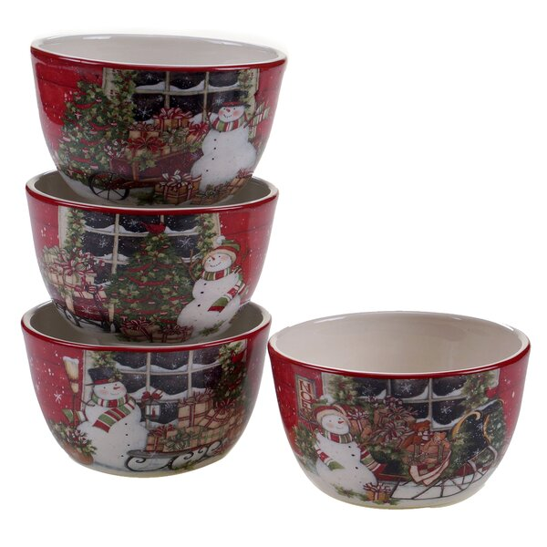 4 Piece Ice Cream Bowl Set by The Holiday Aisle