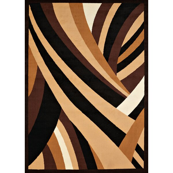Eloise Brown/Black Area Rug by Ebern Designs