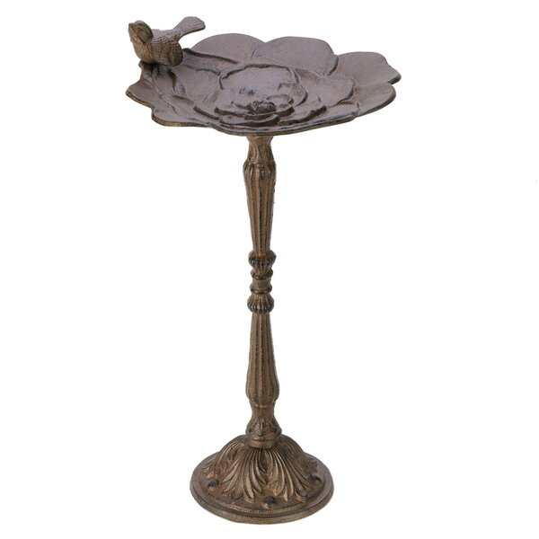 Blooming Rose Birdbath by Zingz & Thingz