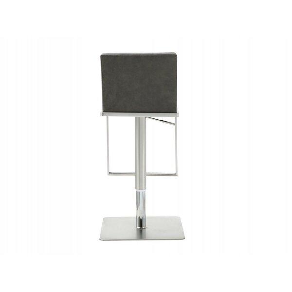 Hatherleigh Adjustable Height Swivel Bar Stool By Orren Ellis