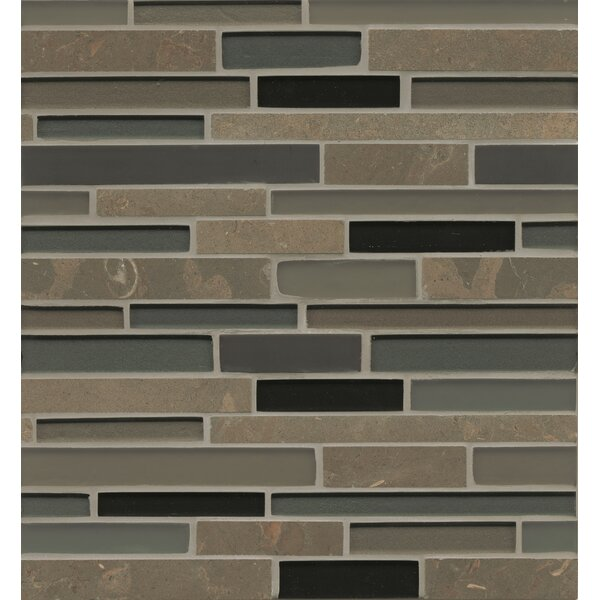 Remy Glass 12 x 13 Stone/Glass Mosaic Random Interlocking Blends in Ellensburg by Grayson Martin
