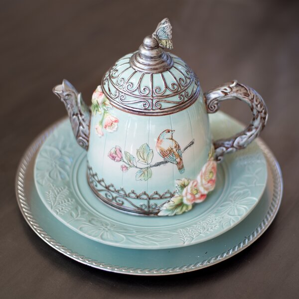 English Garden 2 Qt. Ceramic Teapot by Fitz and Floyd