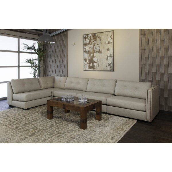 Timpson Right Hand Facing Buttoned Left L-Shape Modular Sectional By Latitude Run