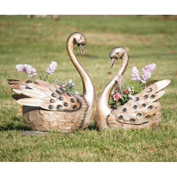 Shonta 2 Swan Flower Pot Planter by August Grove
