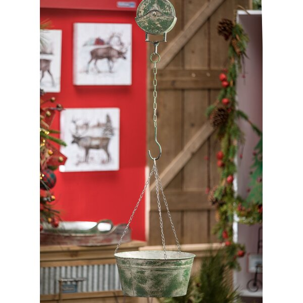 Millman Rustic Pulley Metal Pot Planter by Williston Forge