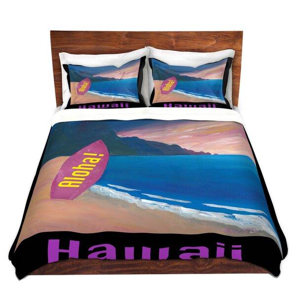Hawaii Surfboard Duvet Cover Set